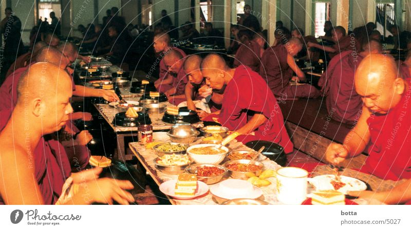 Abendmahl Mensch Ernährung Farbe Amerika Abendessen Mahlzeit Myanmar Mönch Geistlicher
