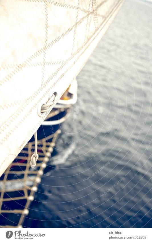 Segelschein Ferien & Urlaub & Reisen blau weiß oben außergewöhnlich träumen Horizont Wellen hoch nass Abenteuer retro Unendlichkeit fahren rein Risiko