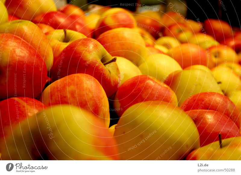 Äpfel Gesundheit rot gelb grün braun Licht Küche rund Apfel Natur Frucht Ernährung