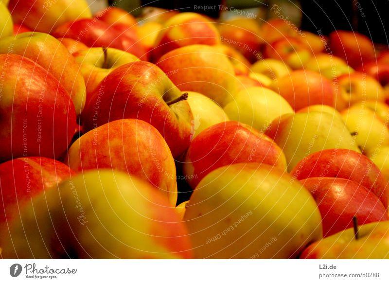 Äpfel Natur grün rot gelb Ernährung braun Gesundheit Frucht rund Küche Apfel
