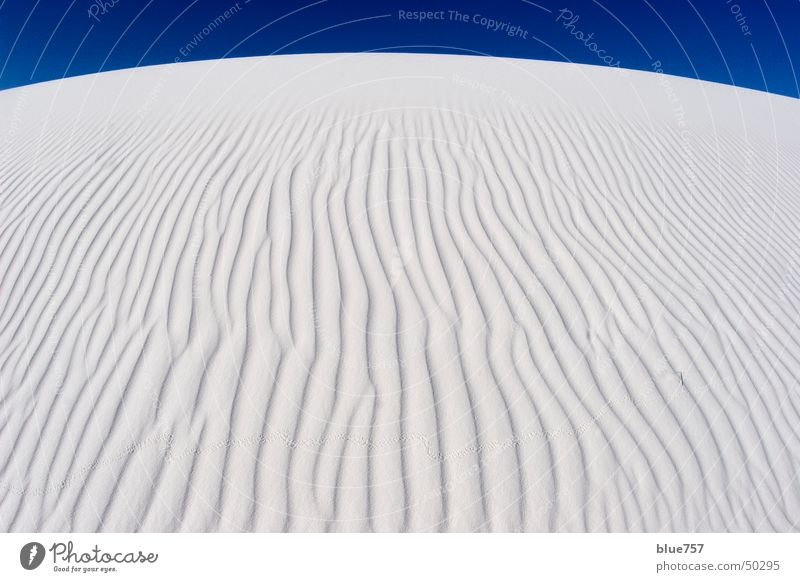 White Sands Himmel weiß blau Wellen Gipssand
