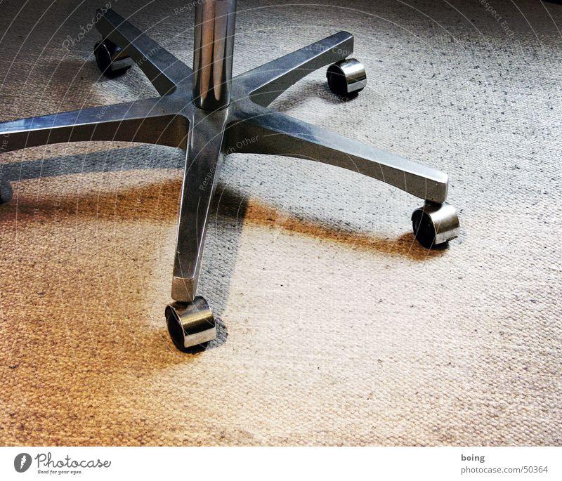 Meine erste Banane Fuß sitzen fahren Stuhl Aktion Medien Leder Teppich Sessel rollen Chrom Staubwischen Drehstuhl