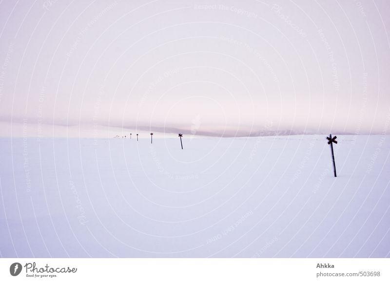Winterlandschaft in Skandinavien Ferien & Urlaub & Reisen Landschaft weiß Erholung Einsamkeit ruhig Ferne Straße Wege & Pfade Schnee Stimmung wild Abenteuer