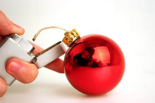 Frohe Weihnachten ;-) Christbaumkugel Bombe Weihnachtsdekoration Weihnachten & Advent gothok perff Anti-Weihnachten