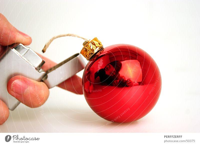 Frohe Weihnachten ;-) Weihnachten & Advent Christbaumkugel Weihnachtsdekoration Bombe