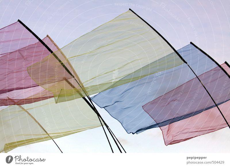 transparenz Freizeit & Hobby Ferien & Urlaub & Reisen Dekoration & Verzierung Kunst Ausstellung Veranstaltung Himmel Wolkenloser Himmel Schönes Wetter Wind