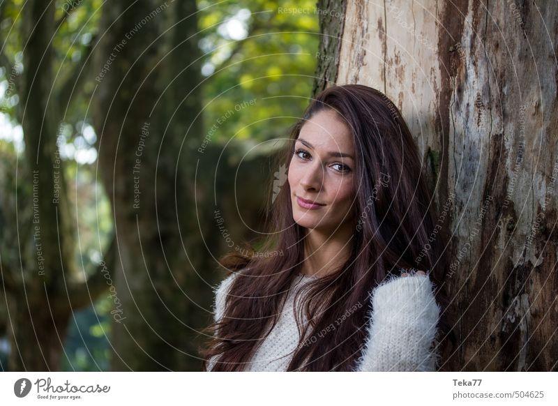 Herbstblick 2 Mensch feminin Junge Frau Jugendliche 18-30 Jahre Erwachsene Umwelt Natur Landschaft Pflanze Baum Gefühle selbstbewußt Mut Ehrlichkeit authentisch