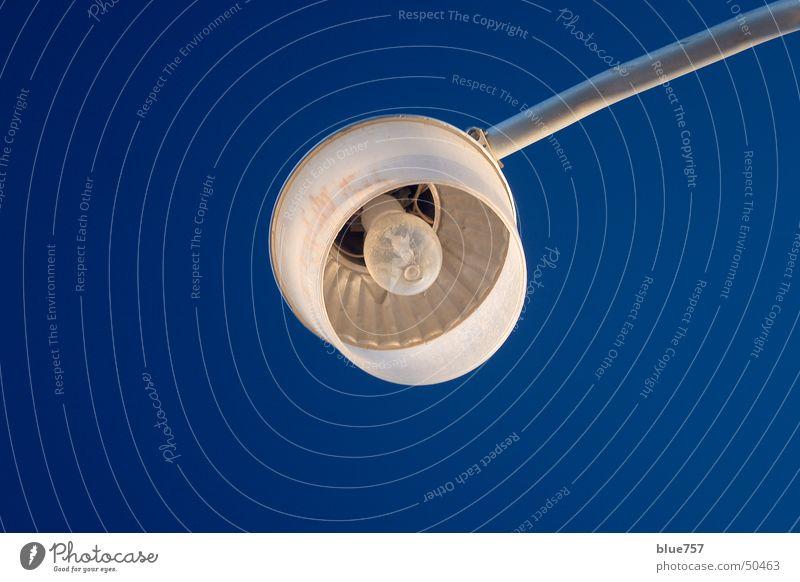 Side Light Himmel weiß blau Metall Glas rund silber Glühbirne Lampenschirm