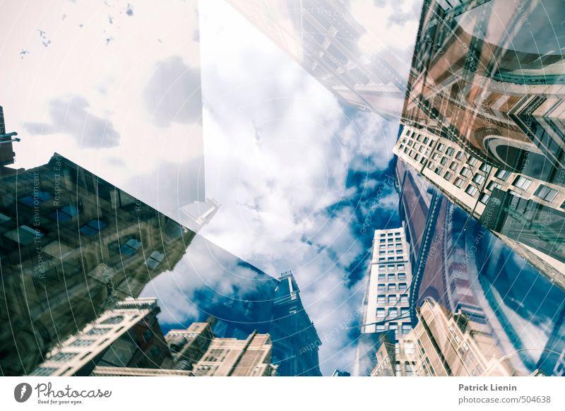 New York State Of Mind Umwelt Stadt Stadtzentrum bevölkert Hochhaus Bauwerk Gebäude Architektur Mauer Wand Stimmung klug Stress Partnerschaft Fortschritt