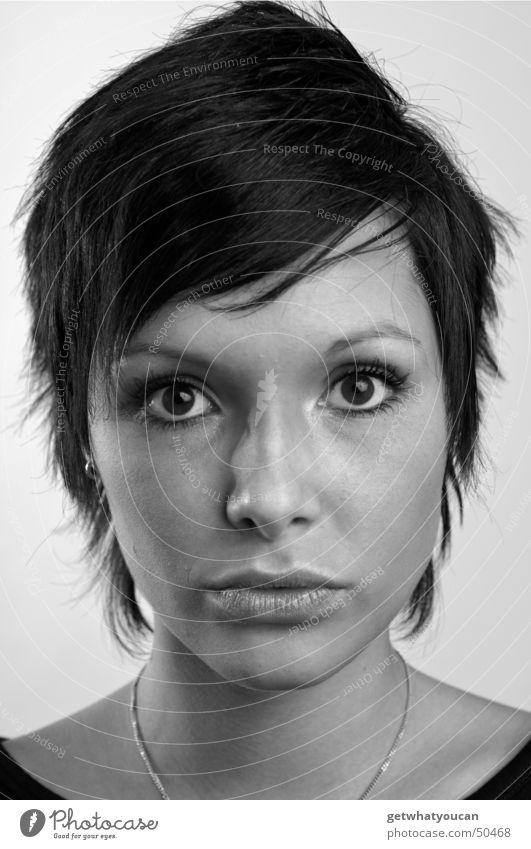 Weniger hart aber immernoch herzlich Teil1 Frau schön Gesicht Auge Kopf Mund Publikum Überraschung bewegungslos erstaunt frontal