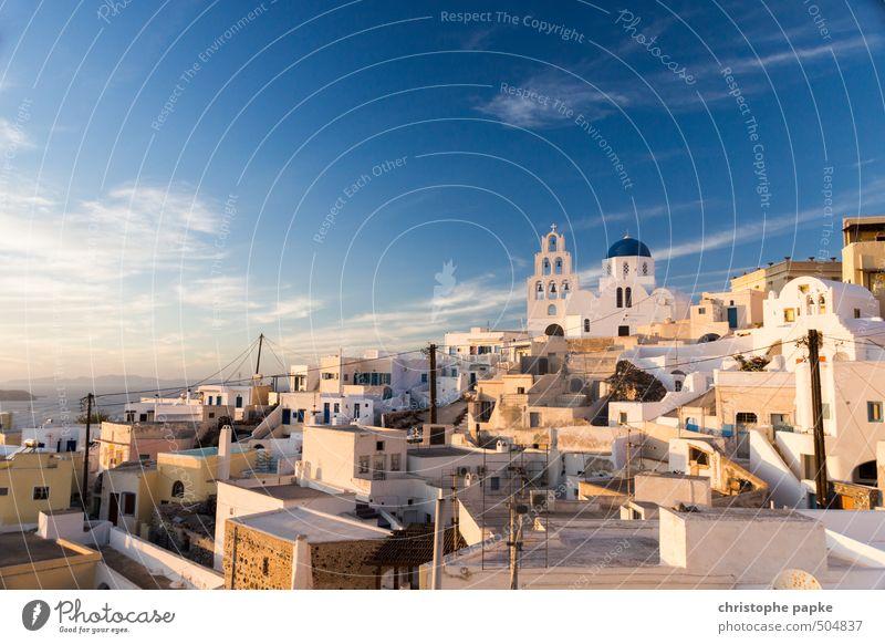 Pyrgos / Santorini Ferien & Urlaub & Reisen Tourismus Ausflug Ferne Sightseeing Städtereise Sommer Sommerurlaub Sonne Himmel Wolken Schönes Wetter Griechenland
