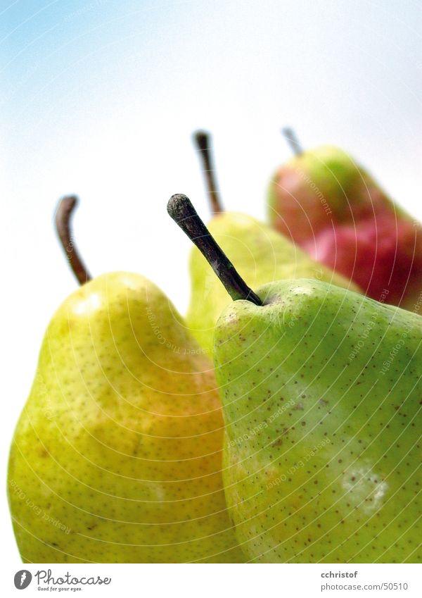 Birnen grün gelb Gesundheit Frucht Stengel reif Vitamin saftig