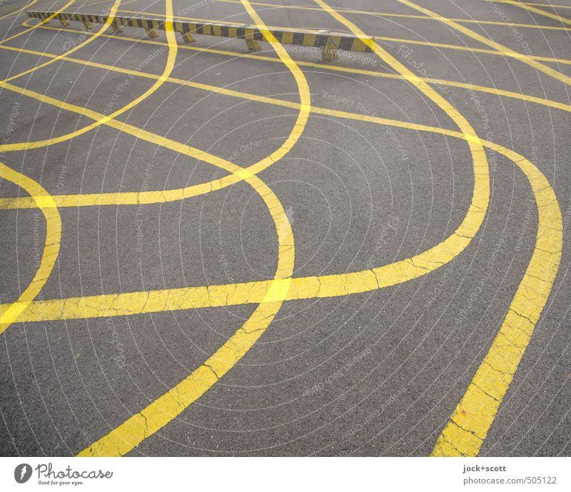 Über-Kreuz-Übung gelb Wege & Pfade Bewegung Stil Sport außergewöhnlich Schilder & Markierungen planen Wandel & Veränderung Hilfsbereitschaft Netzwerk viele