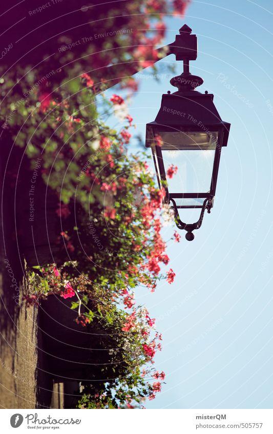 French Style V Stadt Blume Haus Kunst ästhetisch Hütte Dorf Straßenbeleuchtung Frankreich Kleinstadt Grossstadtromantik