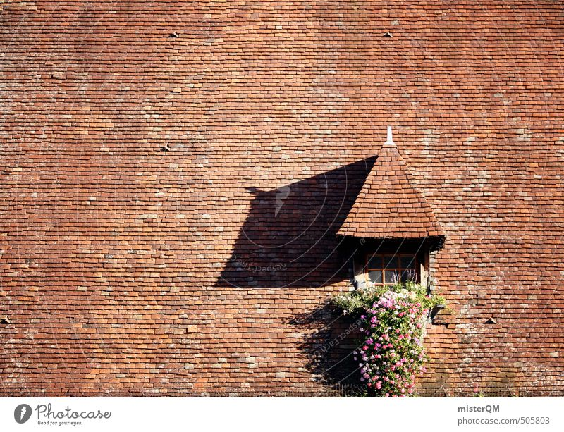 French Style II Kunst ästhetisch Dach Architektur Dachgiebel Dachfenster Dachziegel Dachgeschoss Dachschräge ziegelrot Backstein Tradition Handwerk Frankreich