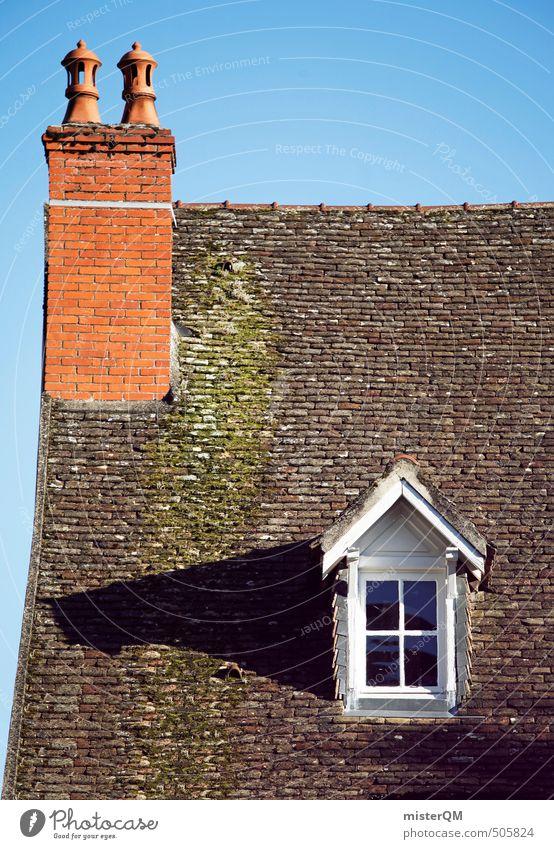 French Style I Stadt Haus Architektur Gebäude ästhetisch Dach Hütte Dorf Bauwerk Backstein Frankreich Schornstein Altstadt Kleinstadt Einfamilienhaus Dachziegel