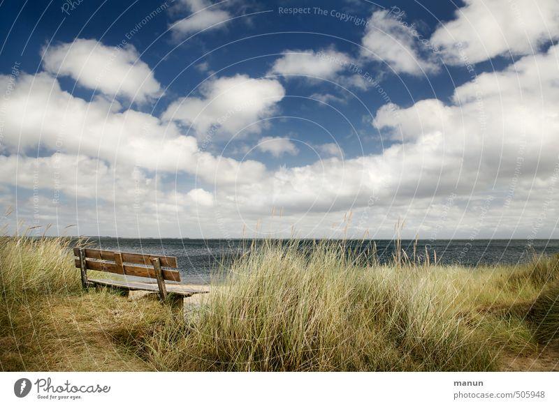 Friesenbank Natur Landschaft Himmel Wolken Wetter Schönes Wetter Küste Strand Bucht Nordsee Meer Insel Bank ruhig Erholung erleben Ferien & Urlaub & Reisen