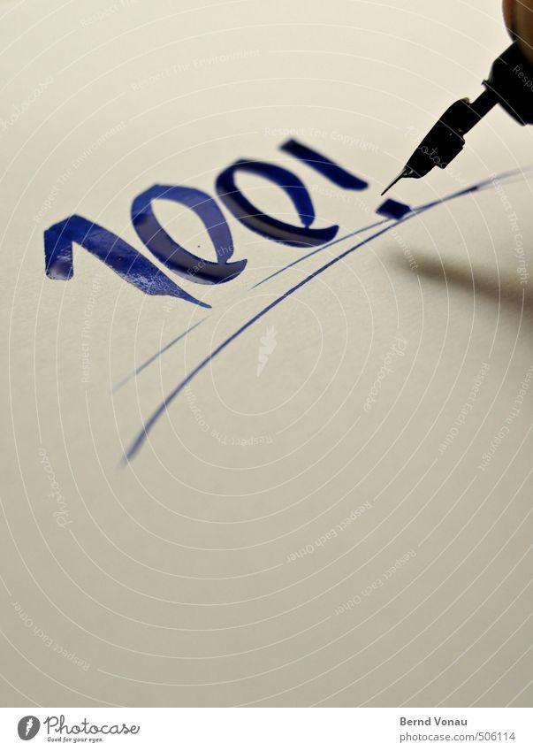 Malen nach Zahlen Finger blau grau schwarz weiß Schreibfeder Papier Tinte nass schreiben Metall Kalligraphie 100 Ziffern & Zahlen Ausrufezeichen Neigung