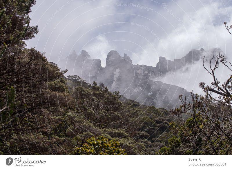 Gunung Kinabalu Natur Landschaft Wolken Berge u. Gebirge außergewöhnlich gefährlich Gipfel fantastisch Höhenangst eckig