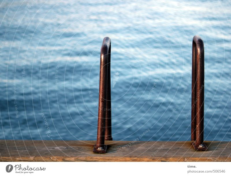 __|_|_ Wasser ruhig Küste Schwimmen & Baden Metall Wellen Zufriedenheit Ordnung Beton Schönes Wetter Güterverkehr & Logistik Geländer USA Hafen Konzentration Gelassenheit