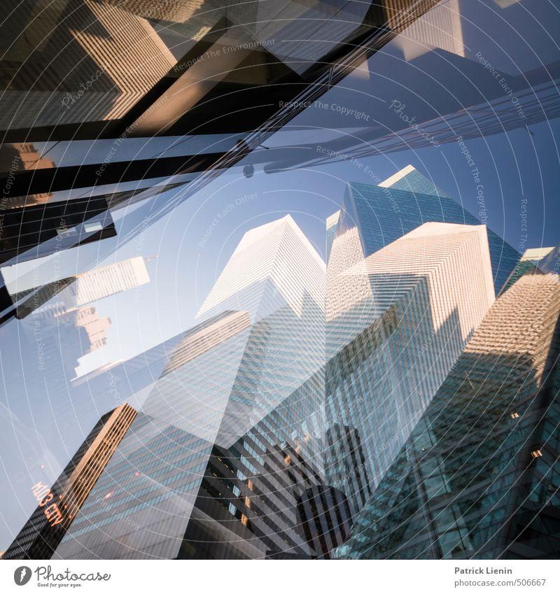 Hochstapler Stadt Stadtzentrum bevölkert Hochhaus Bankgebäude Bauwerk Gebäude Architektur Mauer Wand Fassade Überraschung träumen Einsamkeit Kapitalwirtschaft
