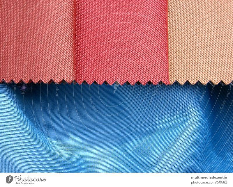 Stoffmuster blau Farbe rosa Muster weich Falte Material Textilien Haarschnitt himmelblau Zickzack hell-blau