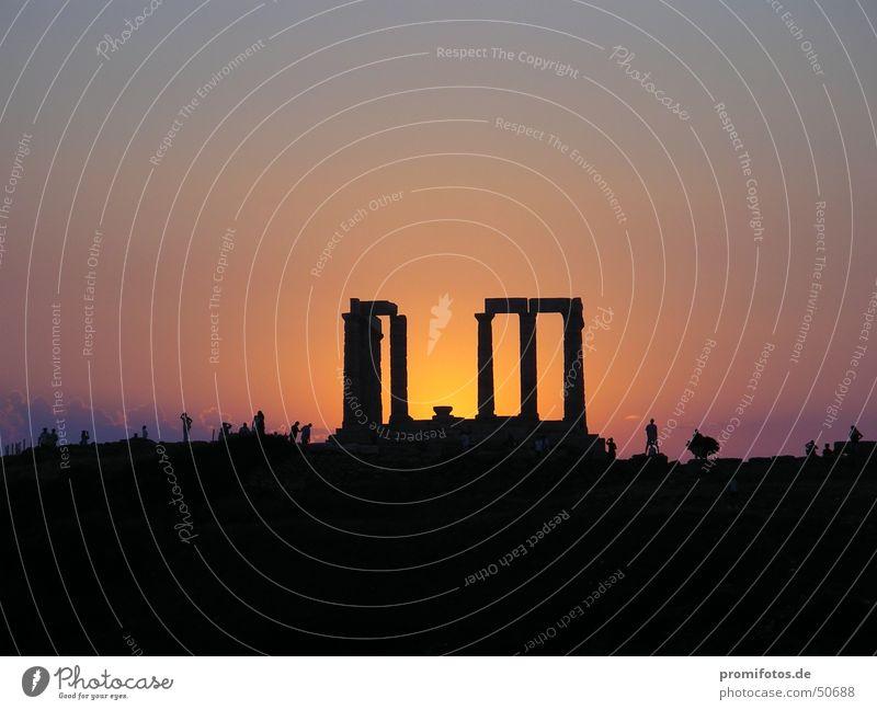 Tempelruine im Gegenlicht Religion & Glaube Tourismus Vergangenheit Ruine Abenddämmerung Griechenland