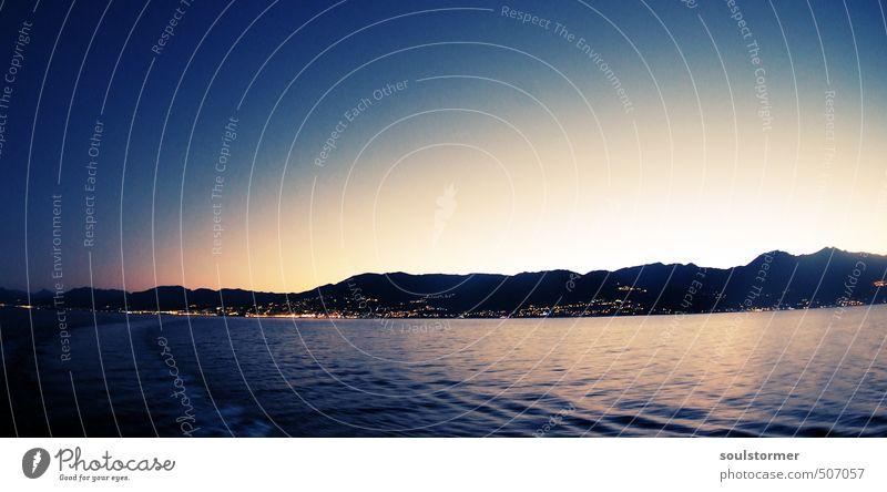 Insel der Schönheit Himmel Natur Ferien & Urlaub & Reisen Wasser Sommer ruhig Berge u. Gebirge Küste Freiheit träumen Freizeit & Hobby Zufriedenheit Tourismus