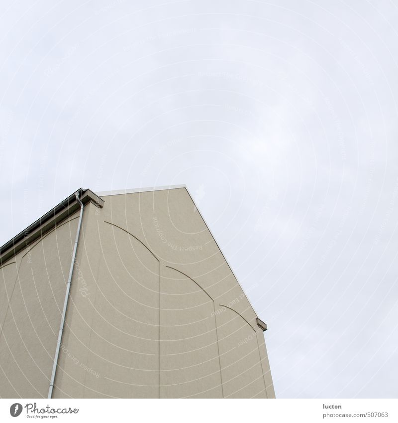 Pfeilfassade Industrie Güterverkehr & Logistik Stadt Stadtrand Haus Bauwerk Gebäude Architektur Speicher Speicherstadt Fassade Dach Stein oben blau grau Himmel