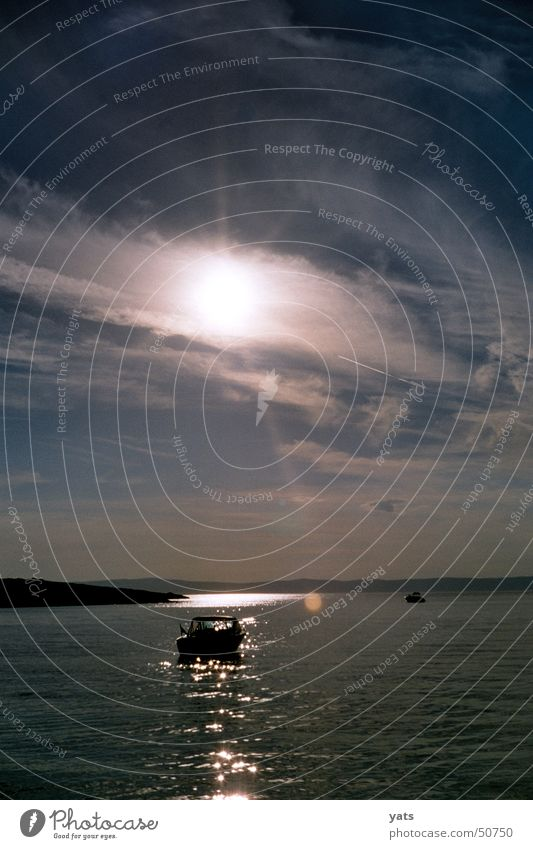 Follow the sun... Wasser Sonne Meer Wolken Wasserfahrzeug Abenddämmerung Kroatien