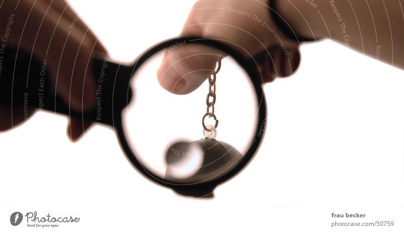 lupe Hand Glas Finger Statue Kette Nagel Lupe Schlüsselanhänger vergrößert
