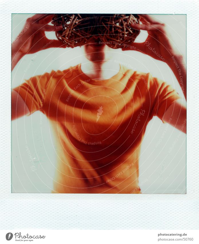 Suche orange Brille Polaroid blind