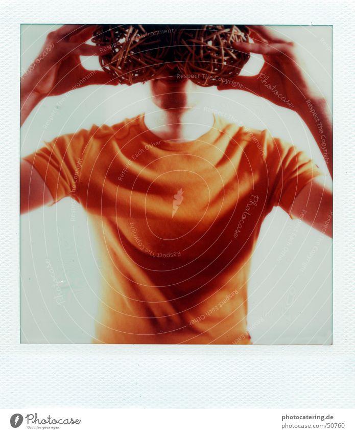 Suche orange Suche Brille Polaroid blind