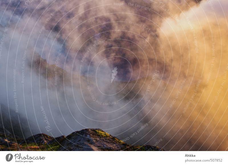 Nebelhexe kocht Natur blau Erholung ruhig Wolken Leben Herbst Stimmung orange wild Zufriedenheit Klima leuchten ästhetisch Kreativität Niveau