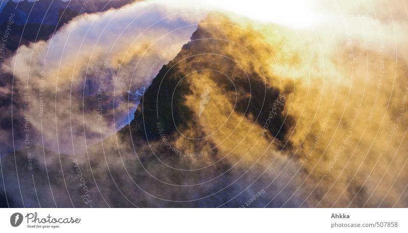 Morgenlicht II Natur Ferien & Urlaub & Reisen Erholung ruhig Freude Wolken Ferne Berge u. Gebirge Leben Gefühle Bewegung Freiheit Glück Stimmung Zufriedenheit