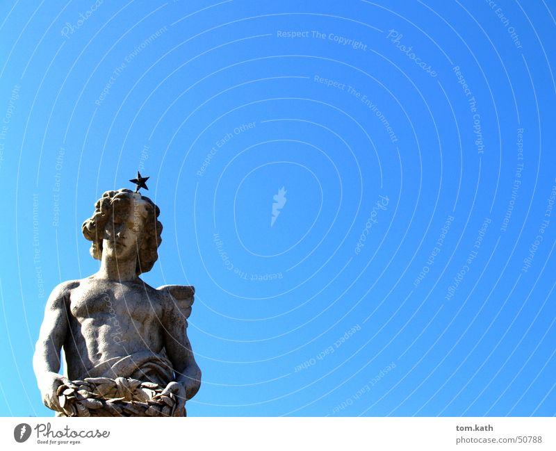 Engel Himmel blau Stein Engel Angelrute