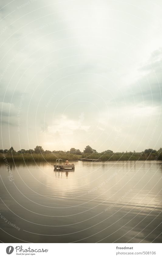 cloud service Ferien & Urlaub & Reisen Sommer Sommerurlaub Sonne Mensch feminin Junge Frau Jugendliche Erwachsene Wasser Schönes Wetter Seeufer Insel Erholung