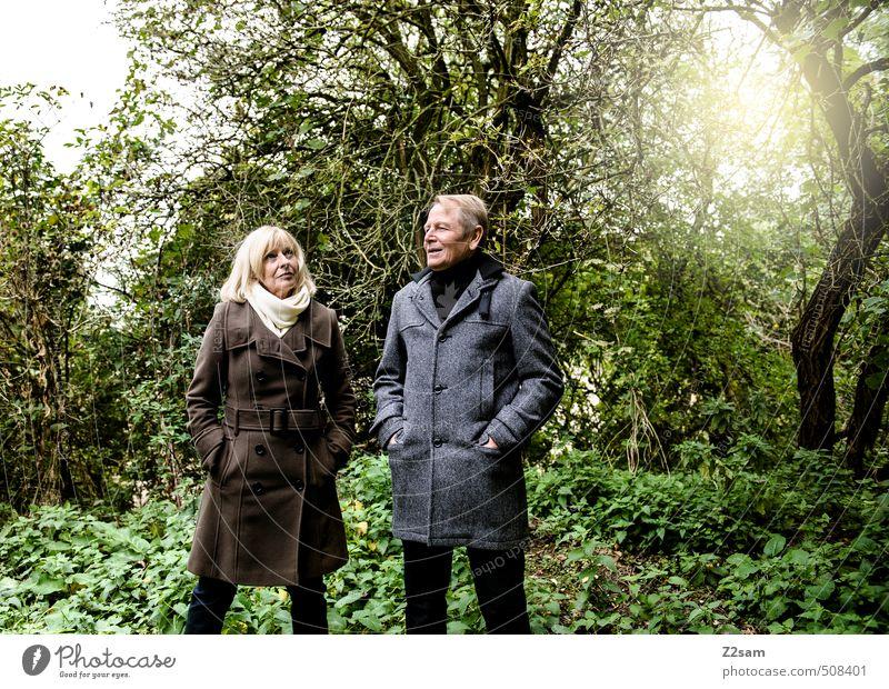 30 Jahre Mensch Frau Natur Mann Sonne Erholung Landschaft Erwachsene Liebe Wiese feminin Senior Herbst Gras Paar Zusammensein