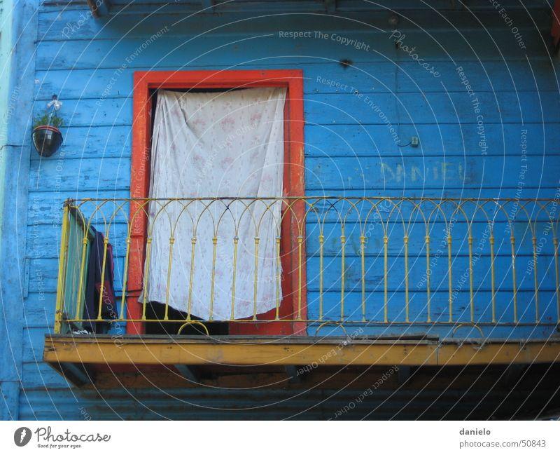 tür von la boca blau rot Tür Eingang Willkommen Argentinien Buenos Aires La Boca