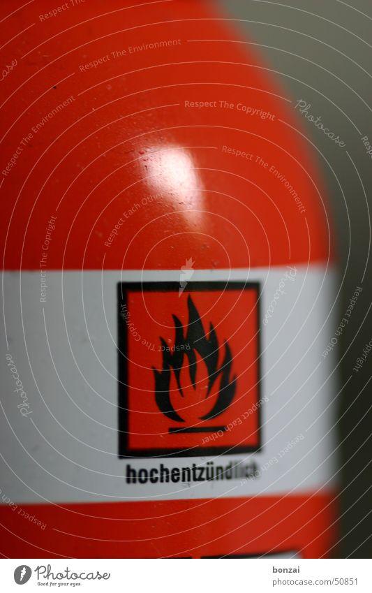hochentzündlich rot Brand Zeichen Hinweisschild Flasche Gas Warnhinweis Schilder & Markierungen