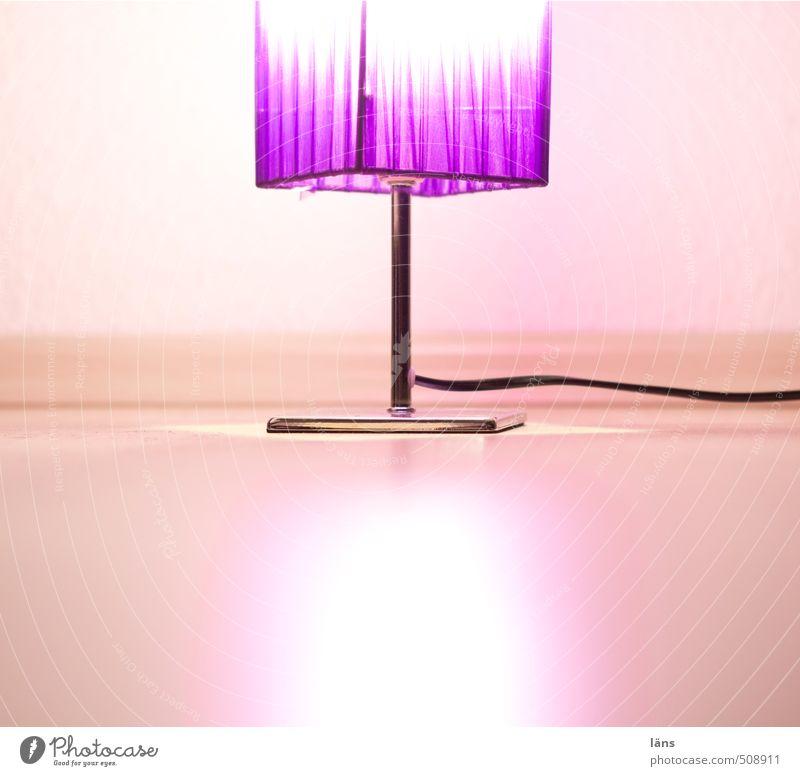 lila wolken Lifestyle Stil Design Häusliches Leben Lampe Raum leuchten einfach elegant frisch glänzend violett Warmherzigkeit Beleuchtung Bodenbelag Farbfoto