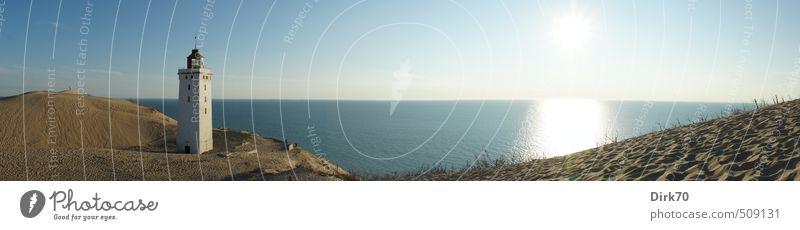 Um die Wette leuchten ... Natur Ferien & Urlaub & Reisen blau weiß Wasser Sommer Sonne Meer Landschaft Strand Ferne gelb Küste Sand Horizont braun