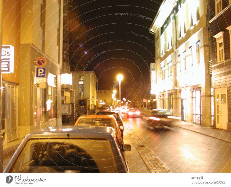 Eisenach-Boulevard Nacht Lichtspiel Club PKW Straße Stadt
