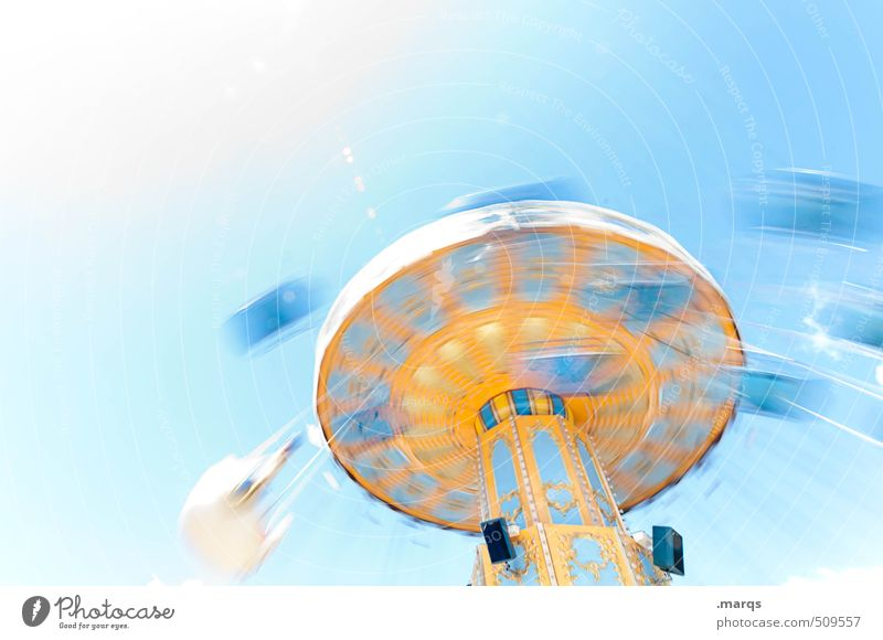 Flugstunde Lifestyle elegant Stil Freude Freizeit & Hobby Jahrmarkt Wolkenloser Himmel außergewöhnlich schön Bewegung drehen Begeisterung Euphorie Entertainment