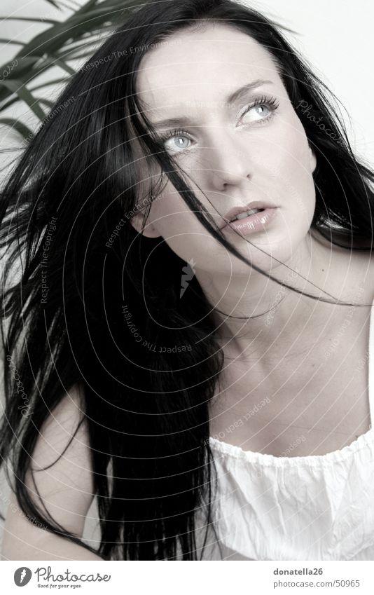 verträumt... Frau schön Haare & Frisuren