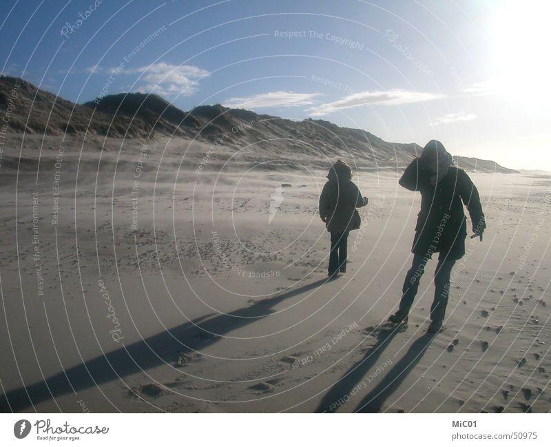 Winterspaziergang am Meer Meer Frost Spaziergang Dänemark gehen