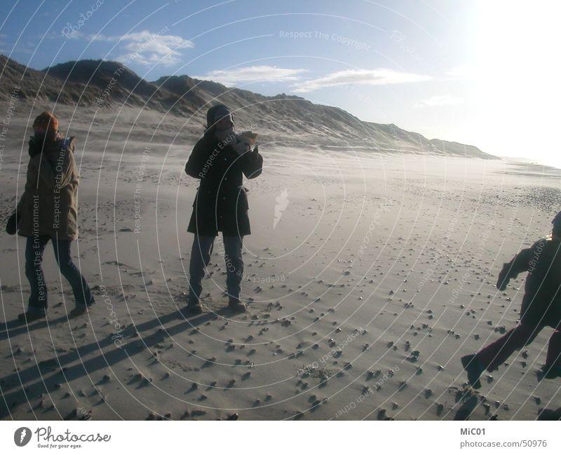 Spaziergang am Meer Winter Strand Frost Dänemark