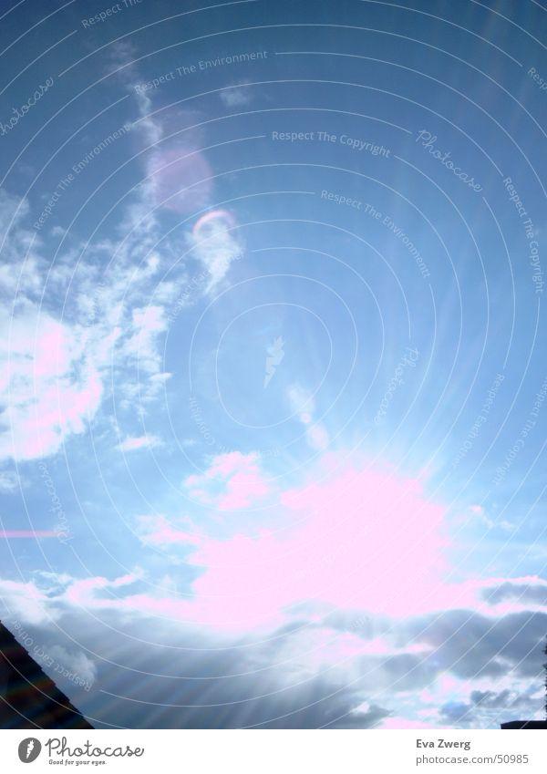 Oktober Sonne Wolken Himmel blau