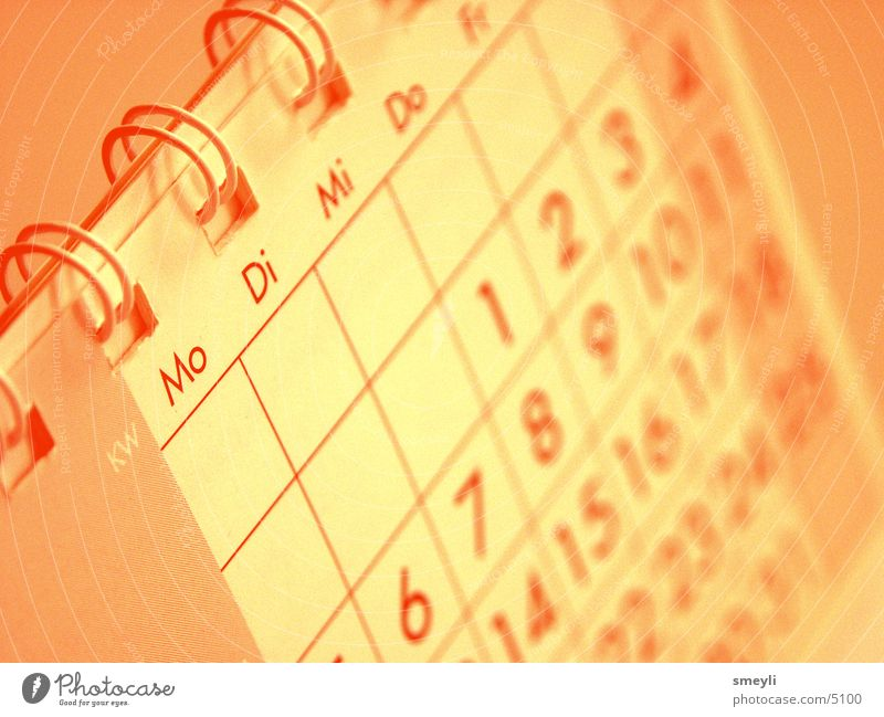 Kalender Graffiti Zeit Arbeit & Erwerbstätigkeit Business orange planen Jahr Termin & Datum Monat geschäftlich Grafik u. Illustration
