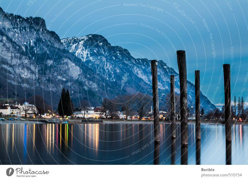 Leuchtesee Natur Wasser Landschaft Winter Berge u. Gebirge Herbst Freiheit See träumen leuchten Klima Alpen Frieden Sehnsucht